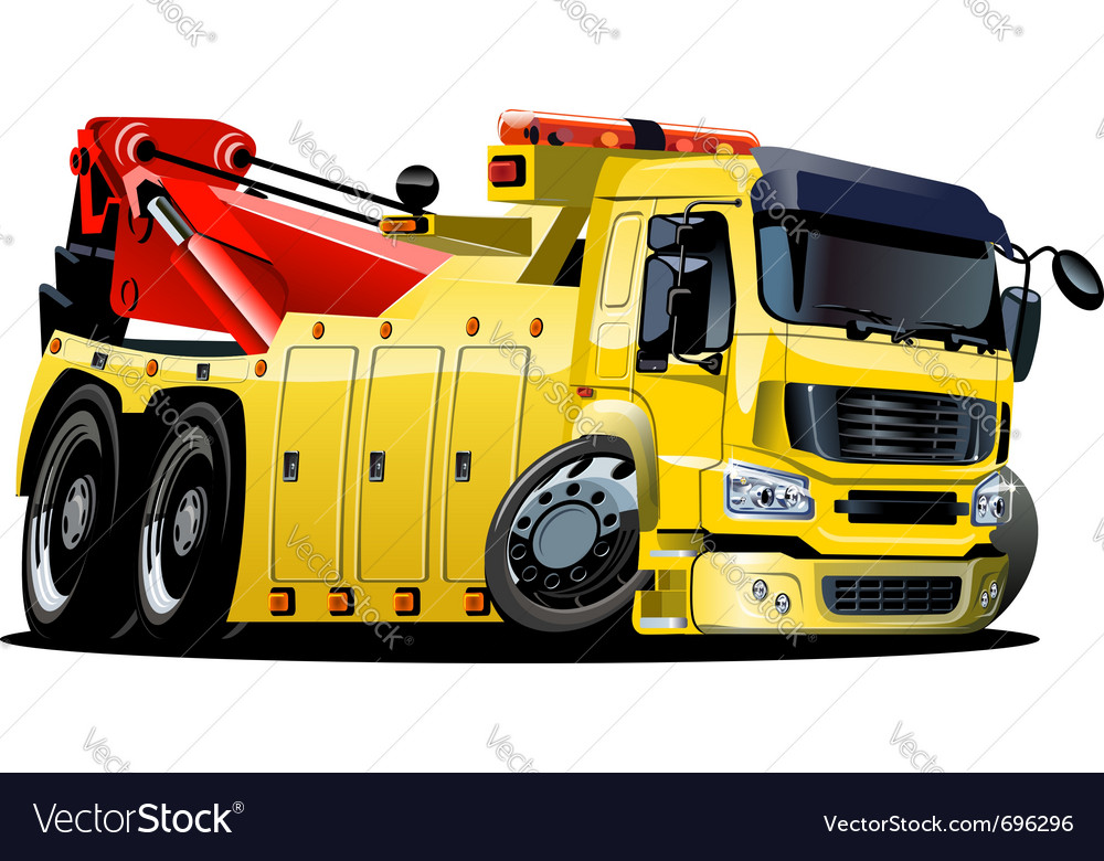 Cartoon tow truck one-click repaint vector | Price: 3 Credit (USD $3)