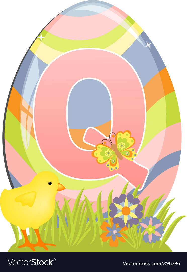 Cute initial letter q vector | Price: 1 Credit (USD $1)