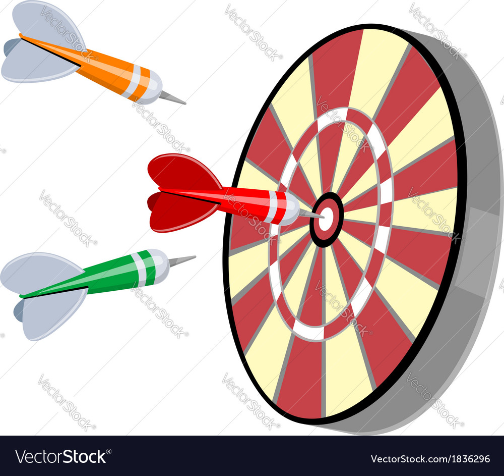 Darts and target vector | Price: 1 Credit (USD $1)