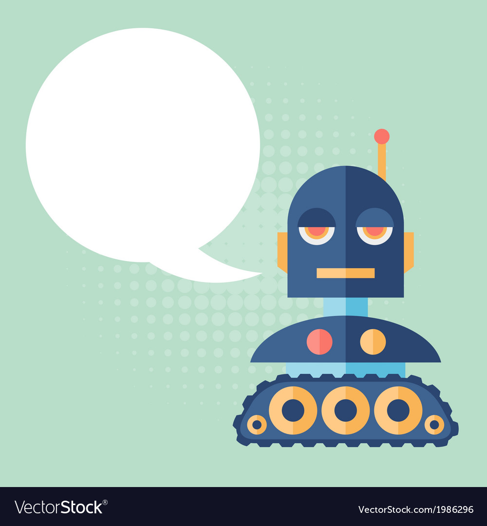 Design robot says something vector | Price: 1 Credit (USD $1)