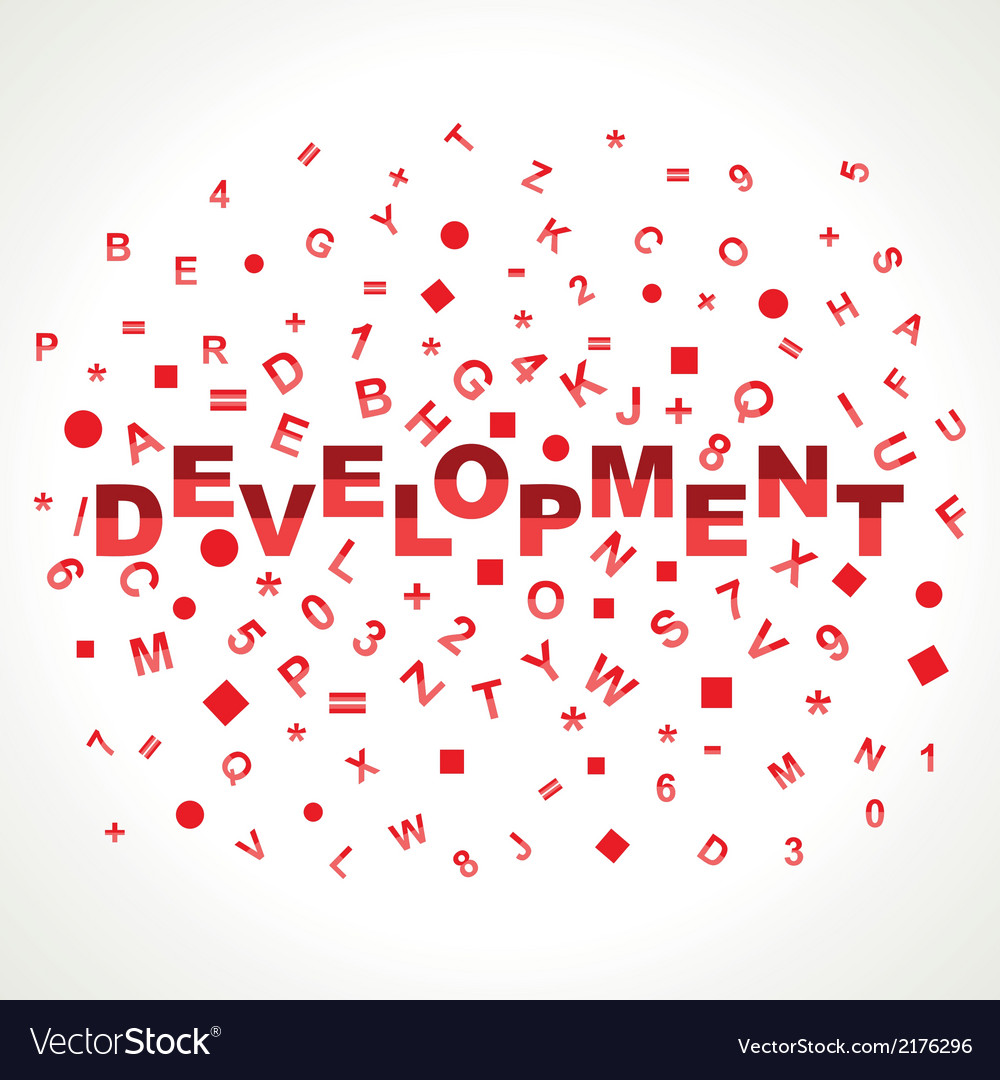 Development word with in alphabets vector | Price: 1 Credit (USD $1)