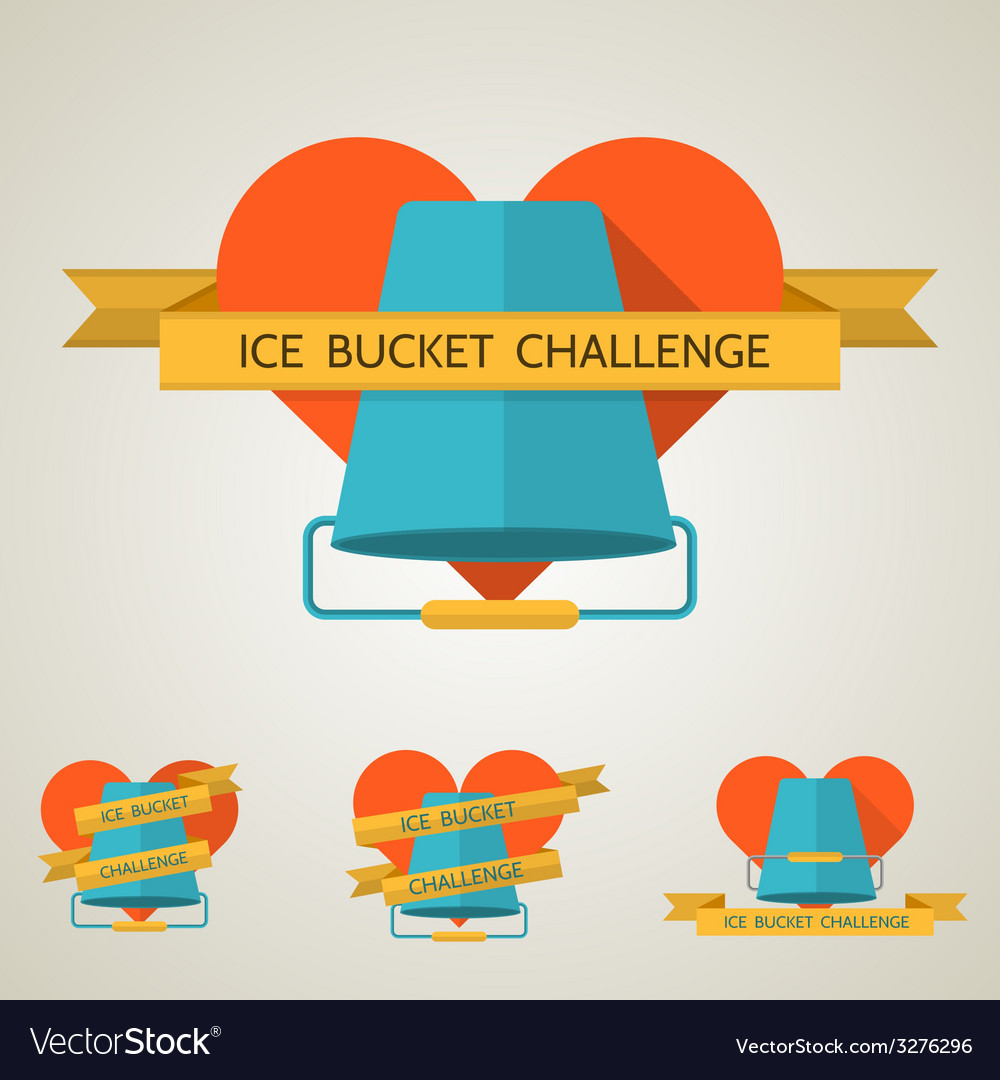 Flat concept for ice bucket challenge vector | Price: 1 Credit (USD $1)