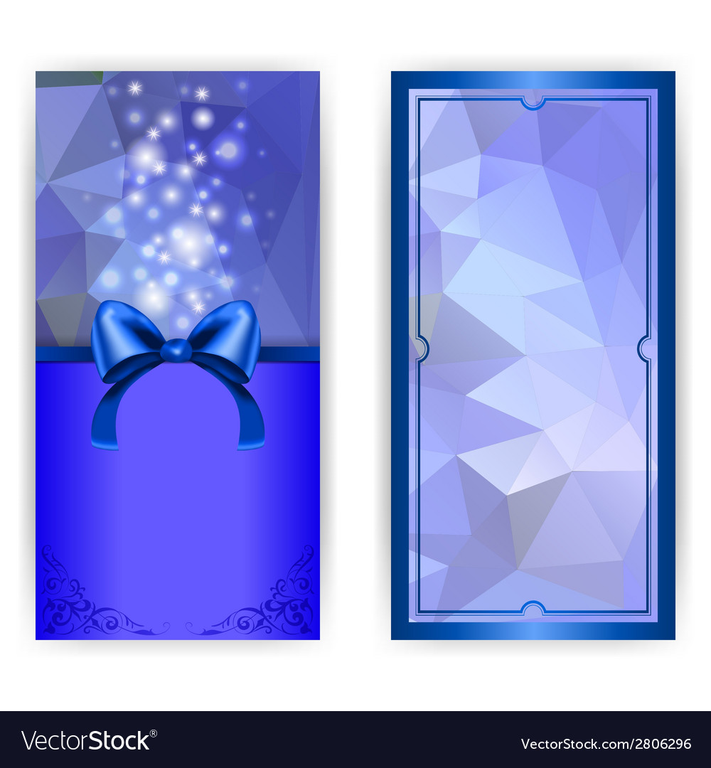 Invitation card with bow vector   Price: 1 Credit (USD $1)