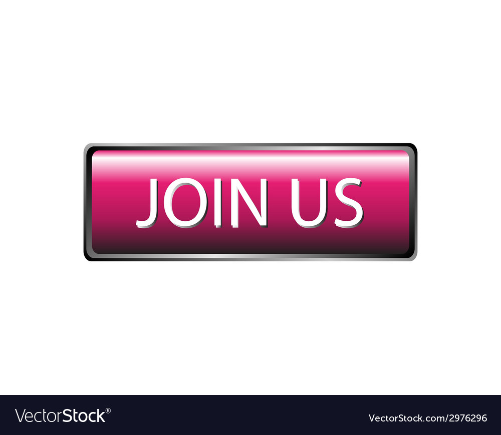 Join us button isolated vector | Price: 1 Credit (USD $1)