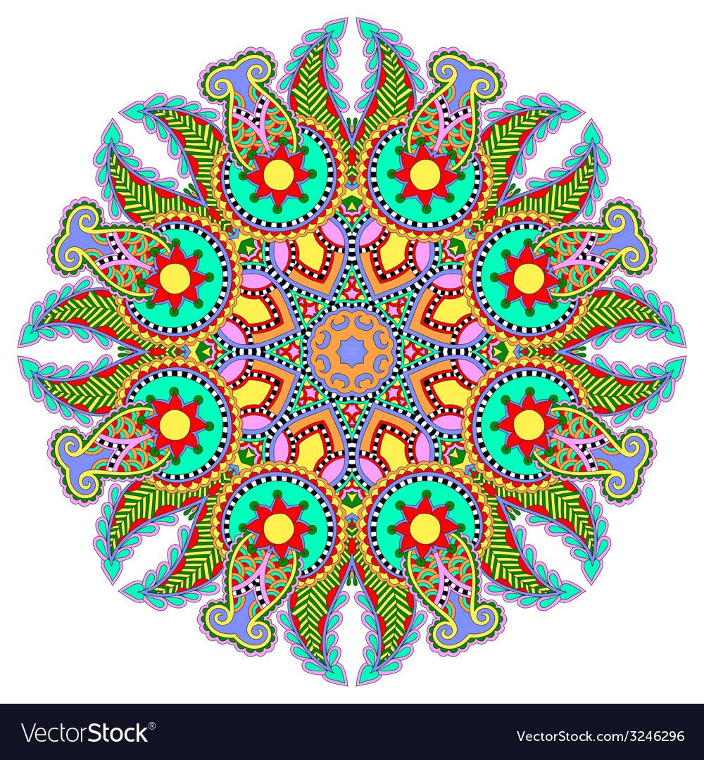 Mandala circle decorative spiritual indian symbol vector | Price: 1 Credit (USD $1)
