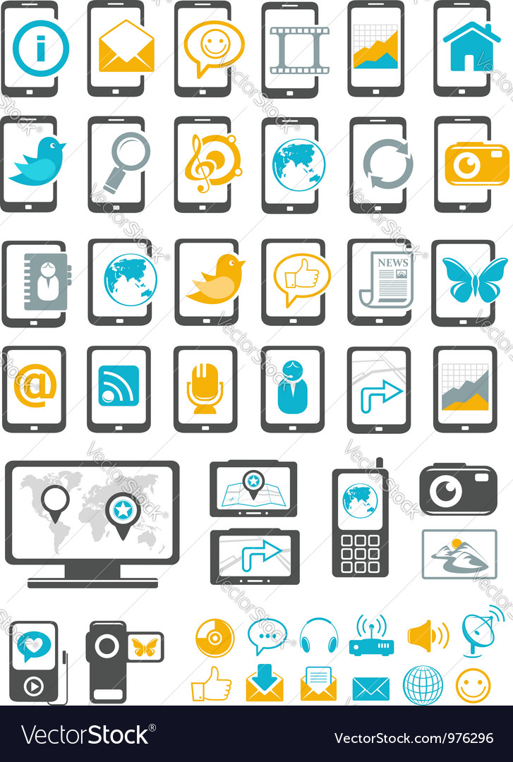 Modern gadget and mobile device vector | Price: 1 Credit (USD $1)