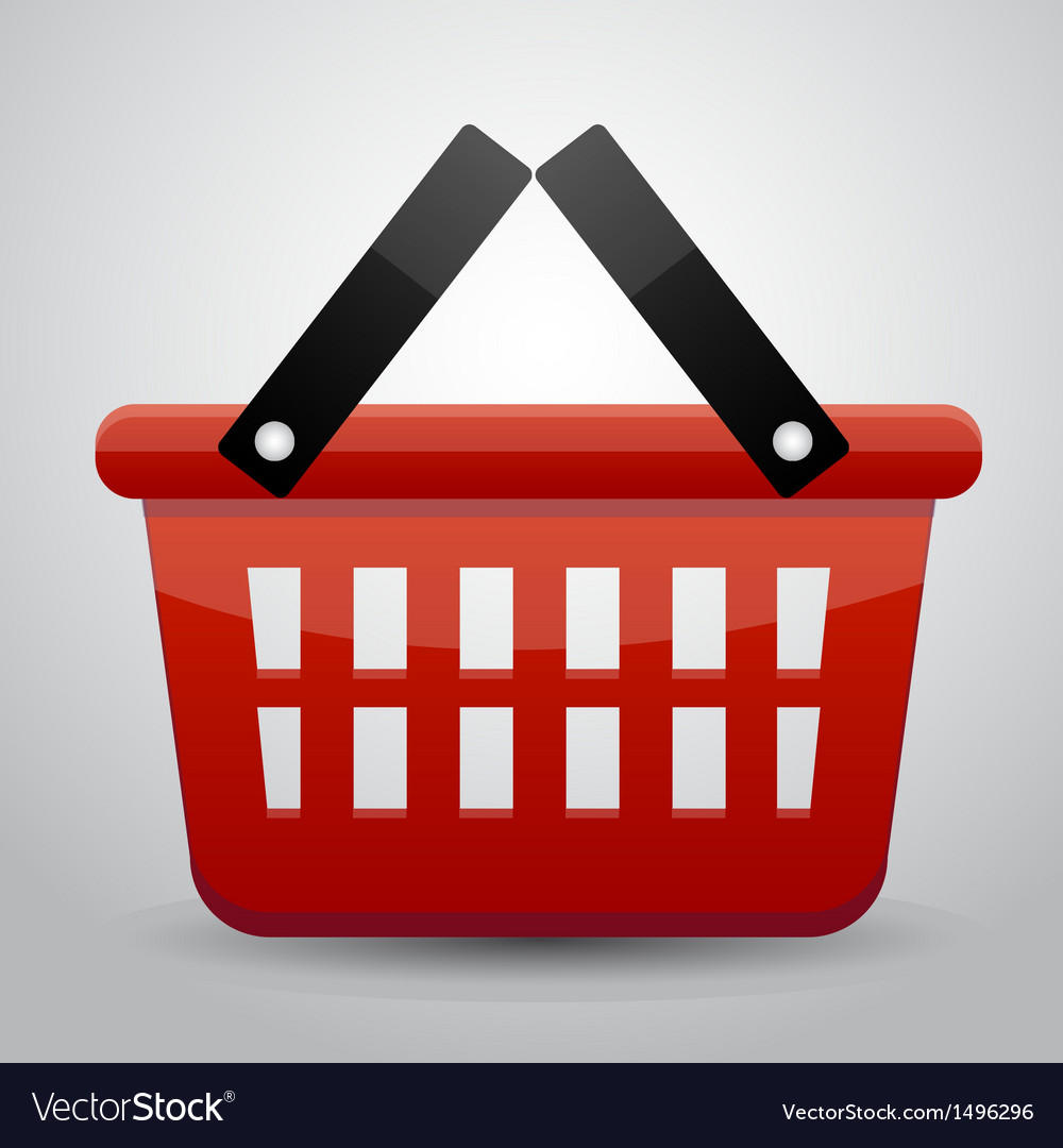 Red basket shopping vector | Price: 1 Credit (USD $1)