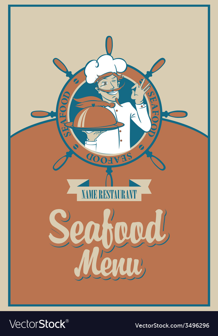 Seafood menu vector | Price: 1 Credit (USD $1)