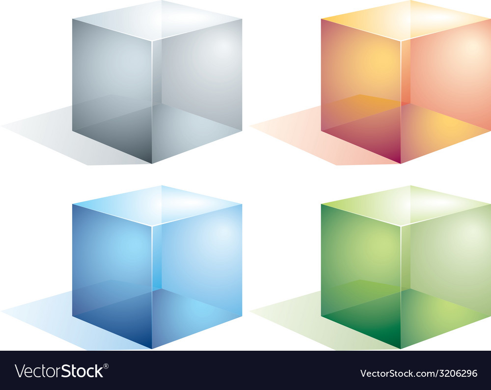 Transparent cubes vector | Price: 1 Credit (USD $1)