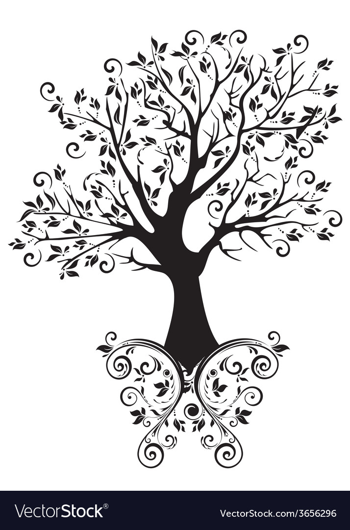 Tree with ornaments vector | Price: 1 Credit (USD $1)