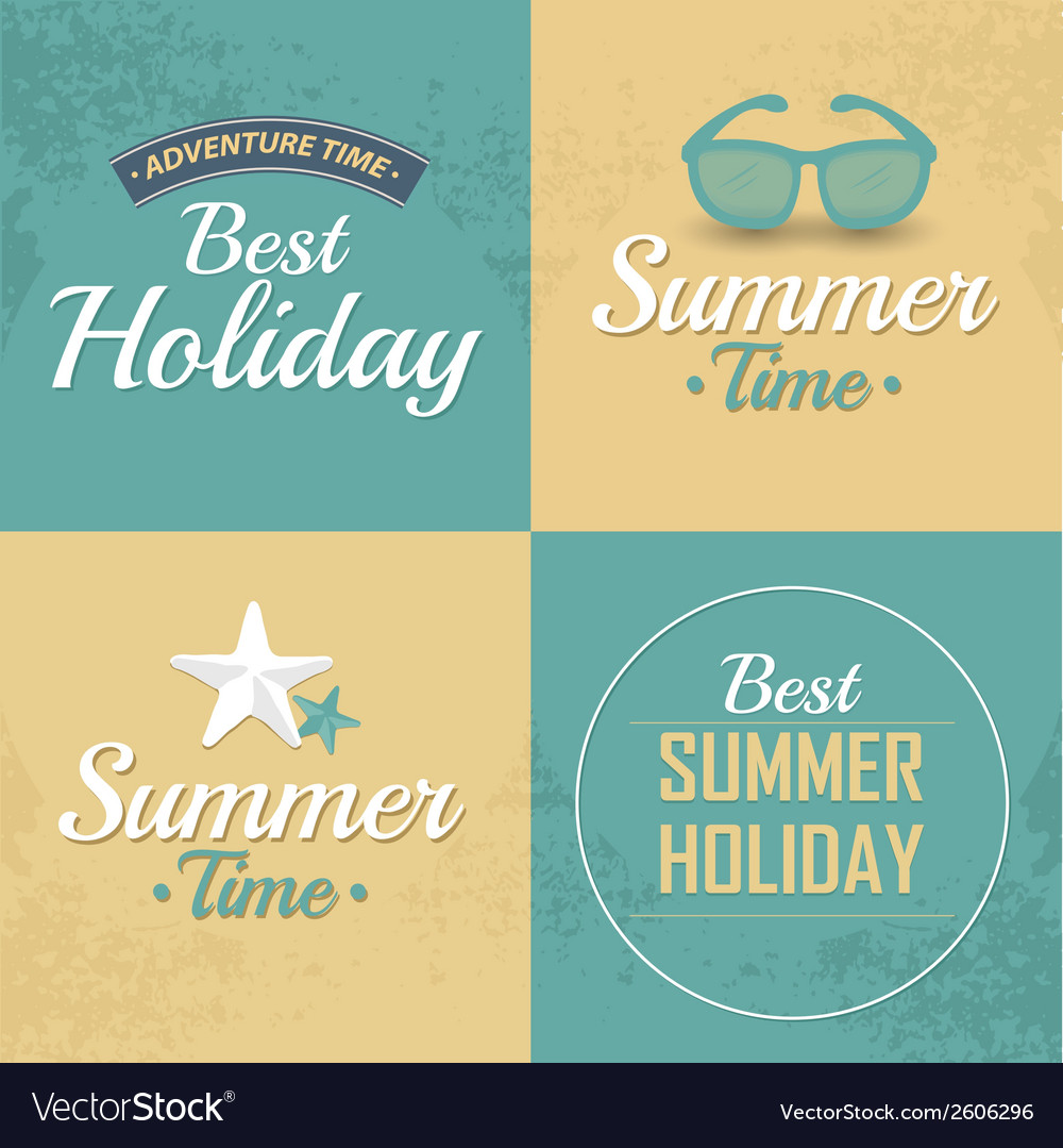 Vintage styled summer vector | Price: 1 Credit (USD $1)