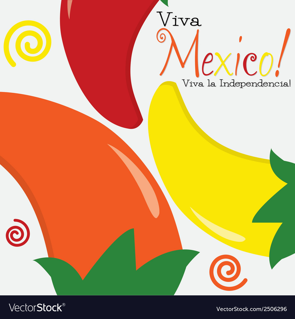 Viva mexico independence day card in format vector | Price: 1 Credit (USD $1)