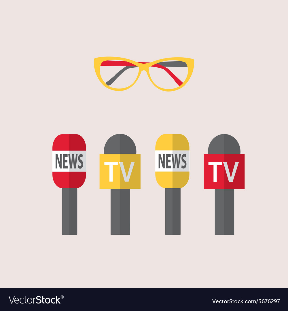 - microphones journalism live news news vector | Price: 1 Credit (USD $1)