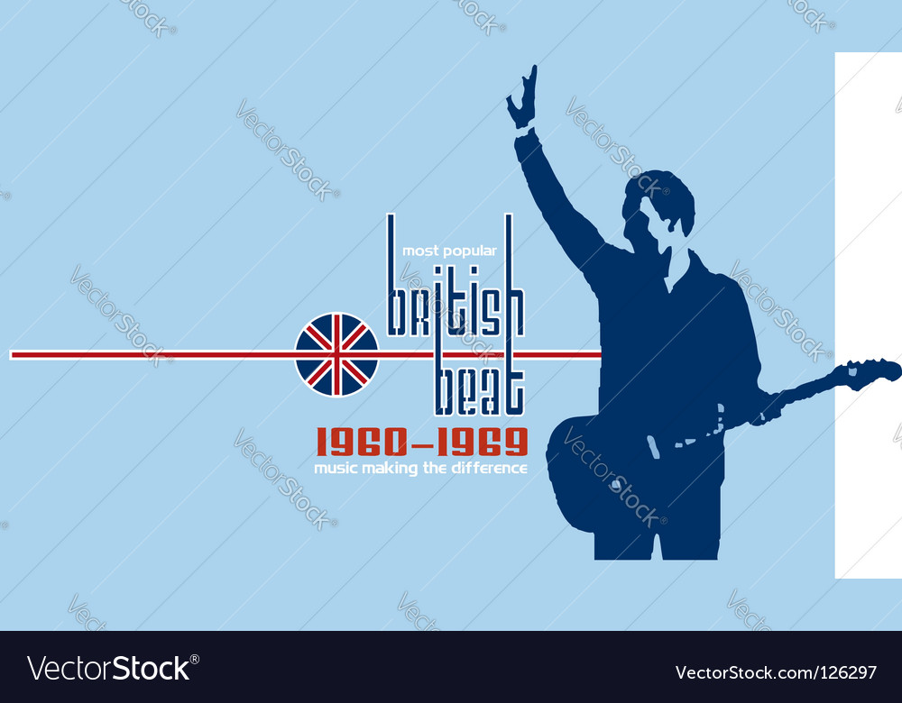 British beat vector | Price: 1 Credit (USD $1)
