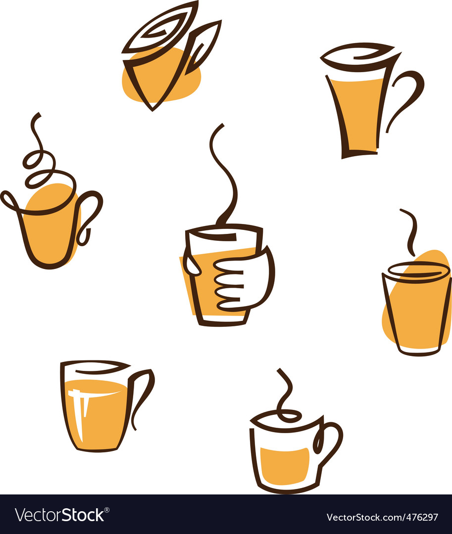 Coffee cup signs vector | Price: 1 Credit (USD $1)