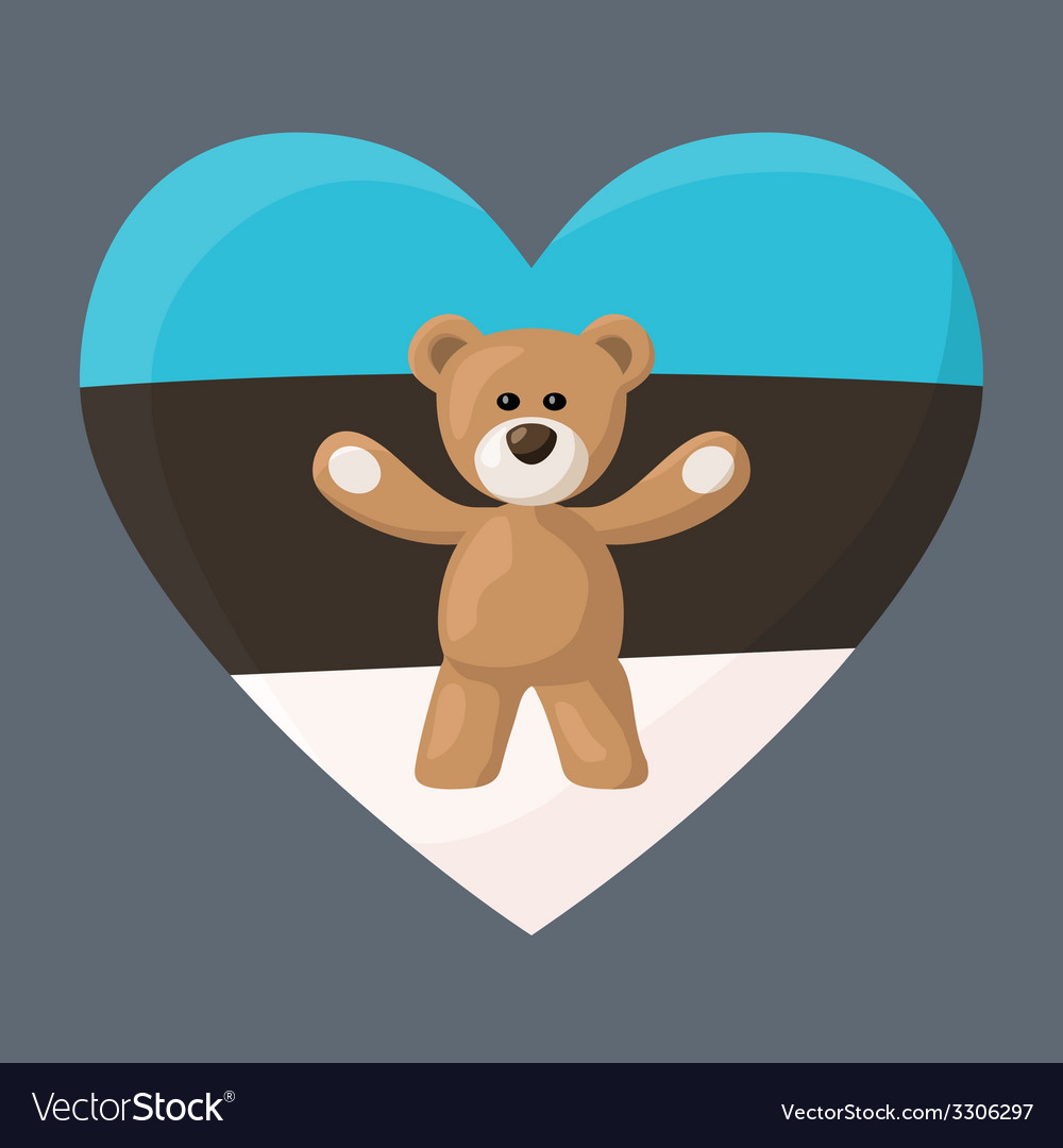 Estonian teddy bears vector | Price: 1 Credit (USD $1)