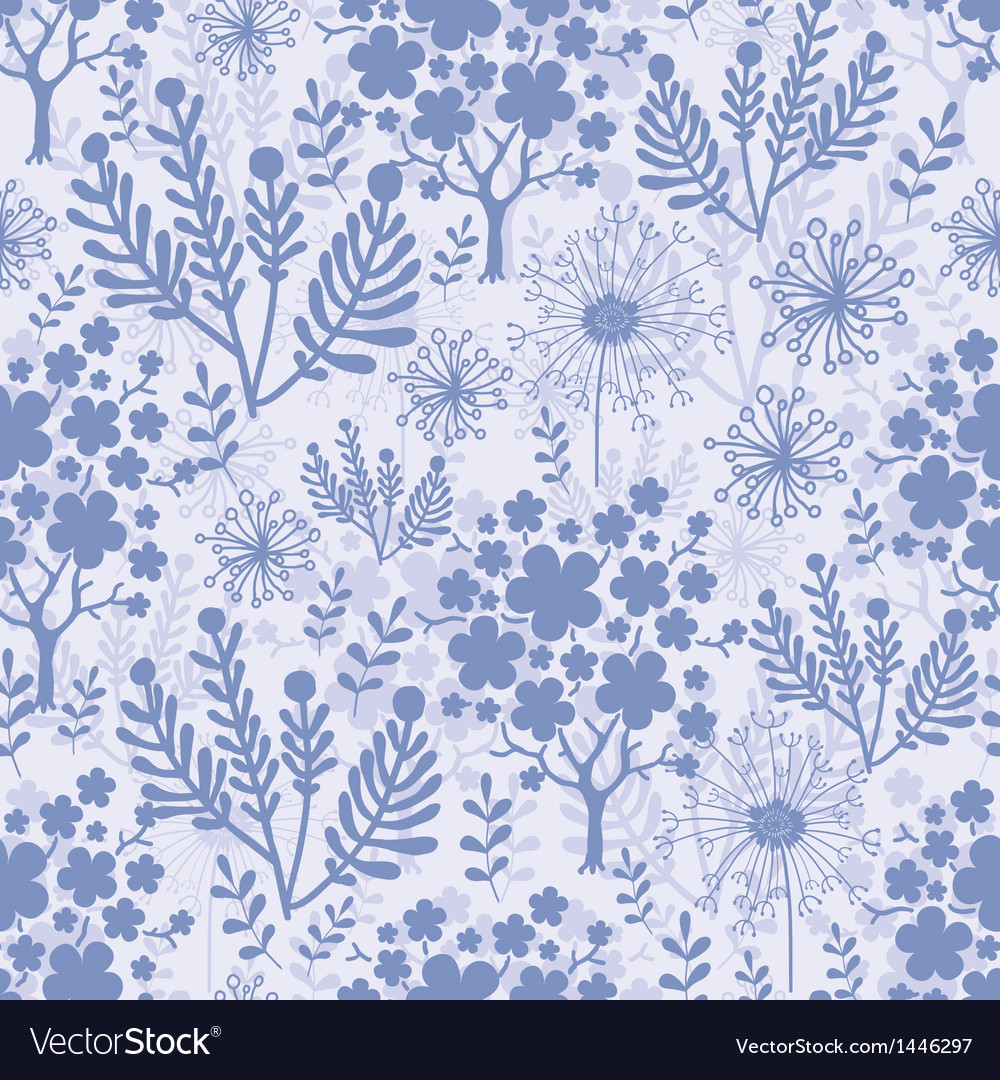Evening garden seamless pattern background vector | Price: 1 Credit (USD $1)