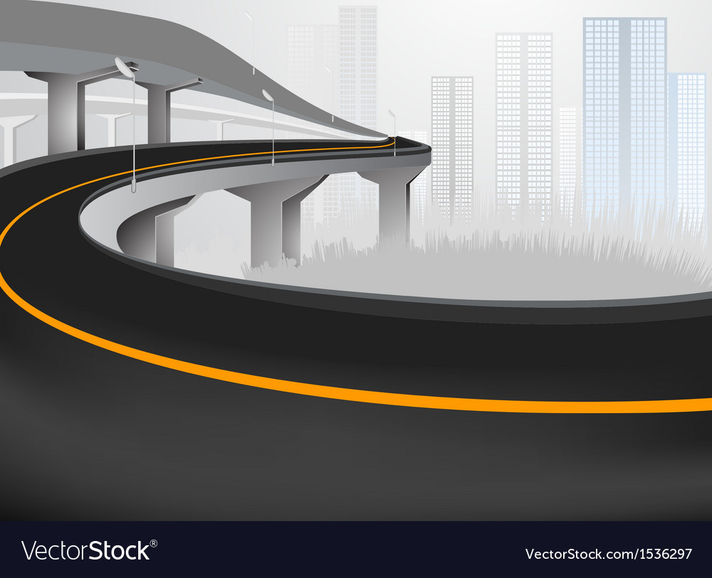 Express way into city vector | Price: 1 Credit (USD $1)