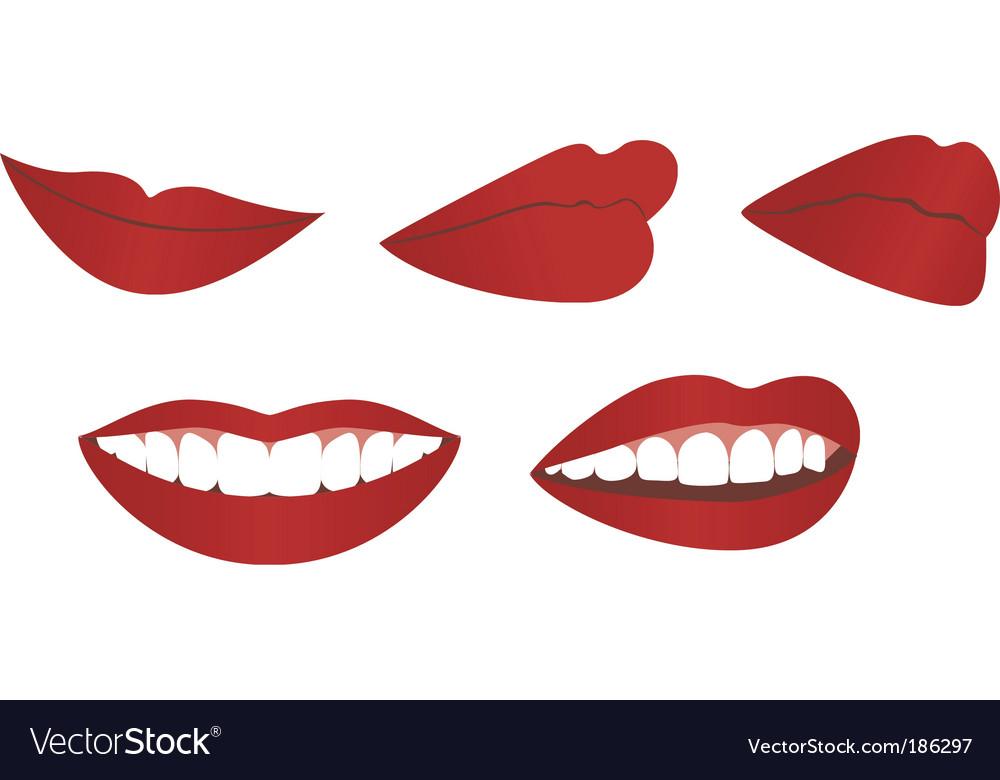 Female lips vector | Price: 1 Credit (USD $1)