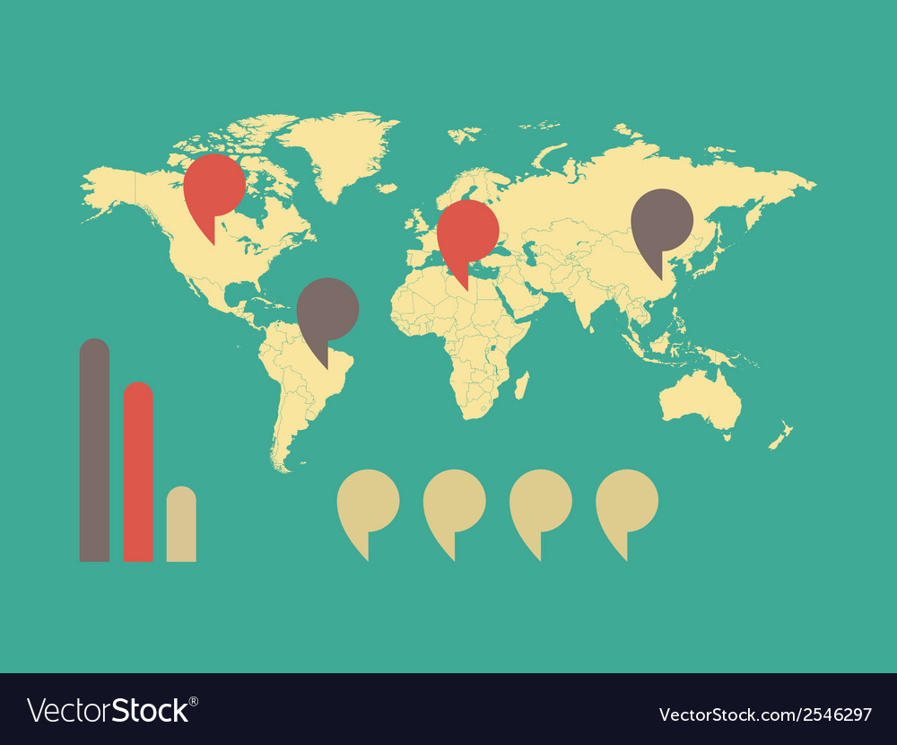 Map of the world vector   Price: 1 Credit (USD $1)