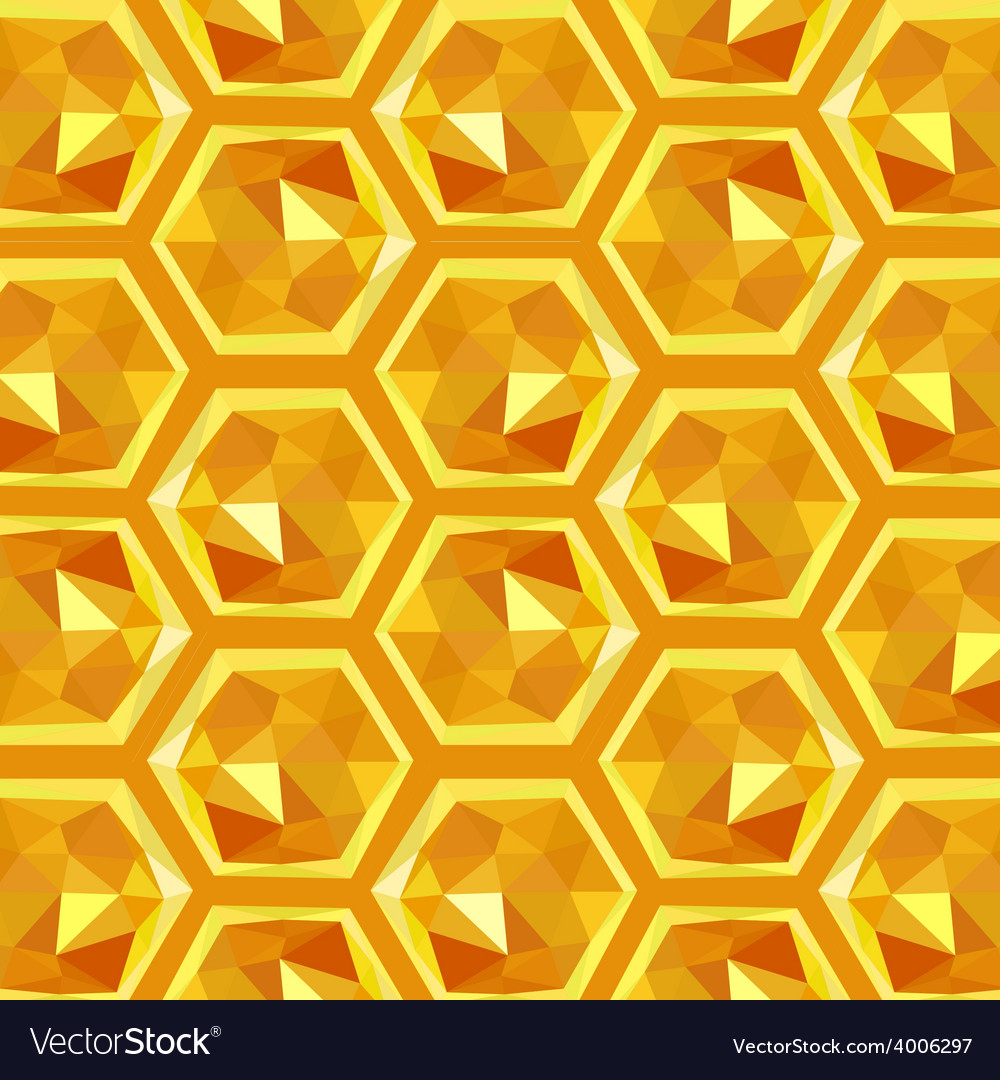 Origami honeycomb pattern vector | Price: 1 Credit (USD $1)