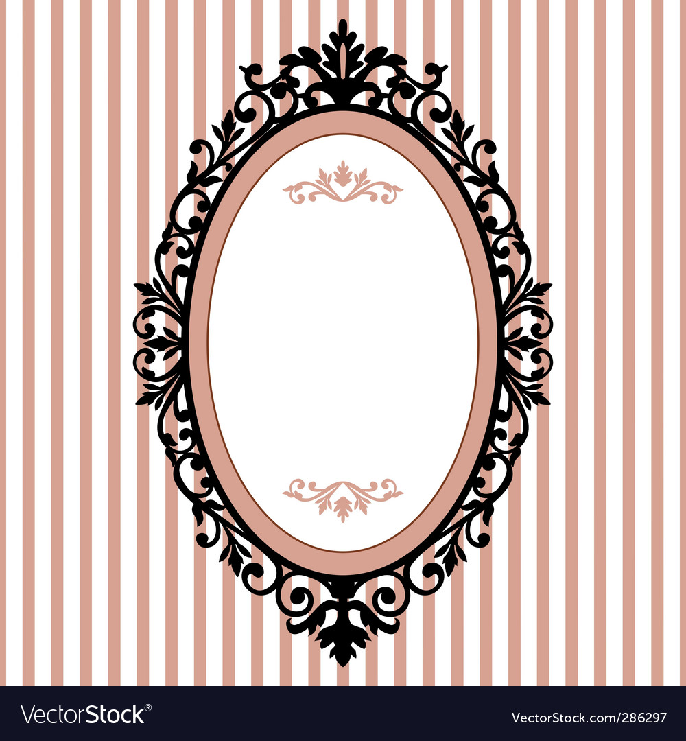 Oval vintage frame vector | Price: 1 Credit (USD $1)