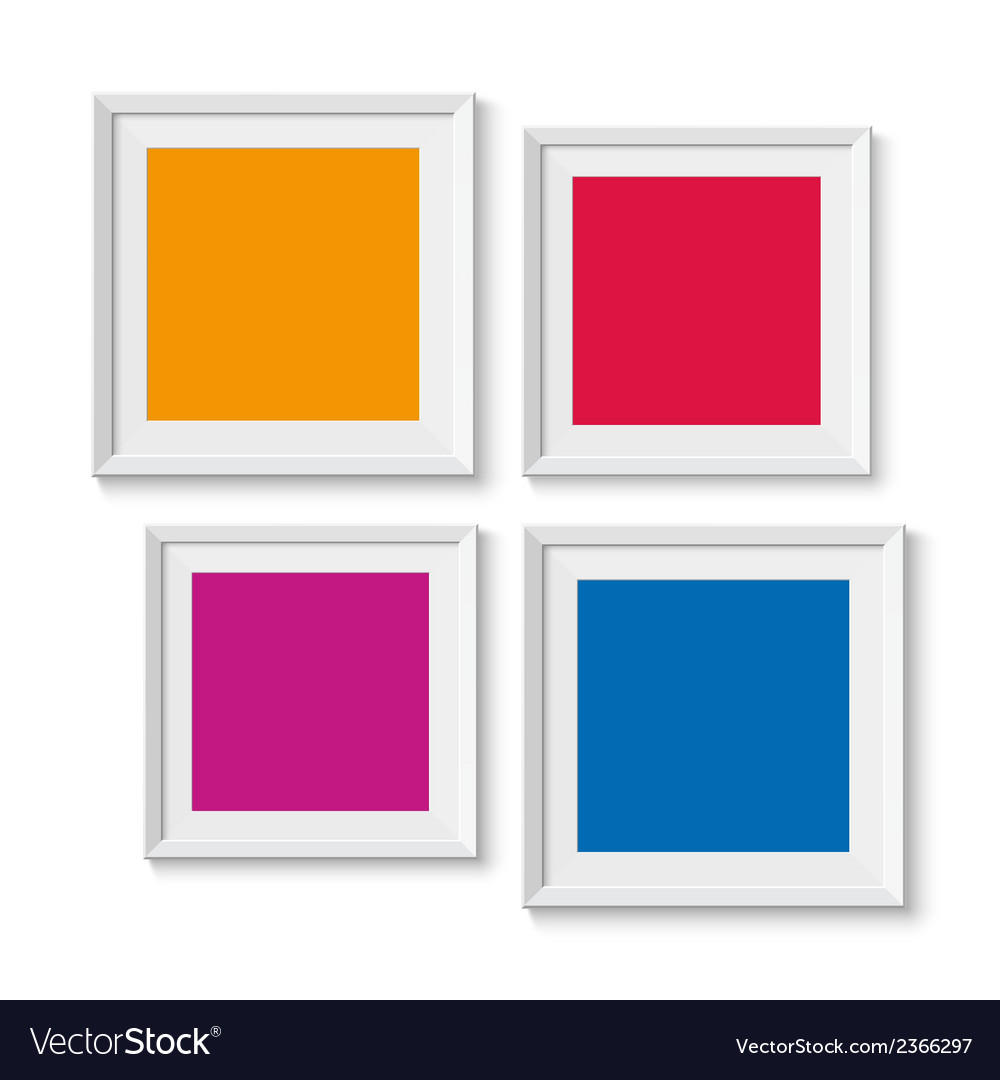 Realistic picture frames options banners vector | Price: 1 Credit (USD $1)