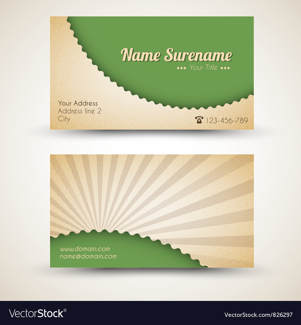Retro business card vector | Price: 1 Credit (USD $1)