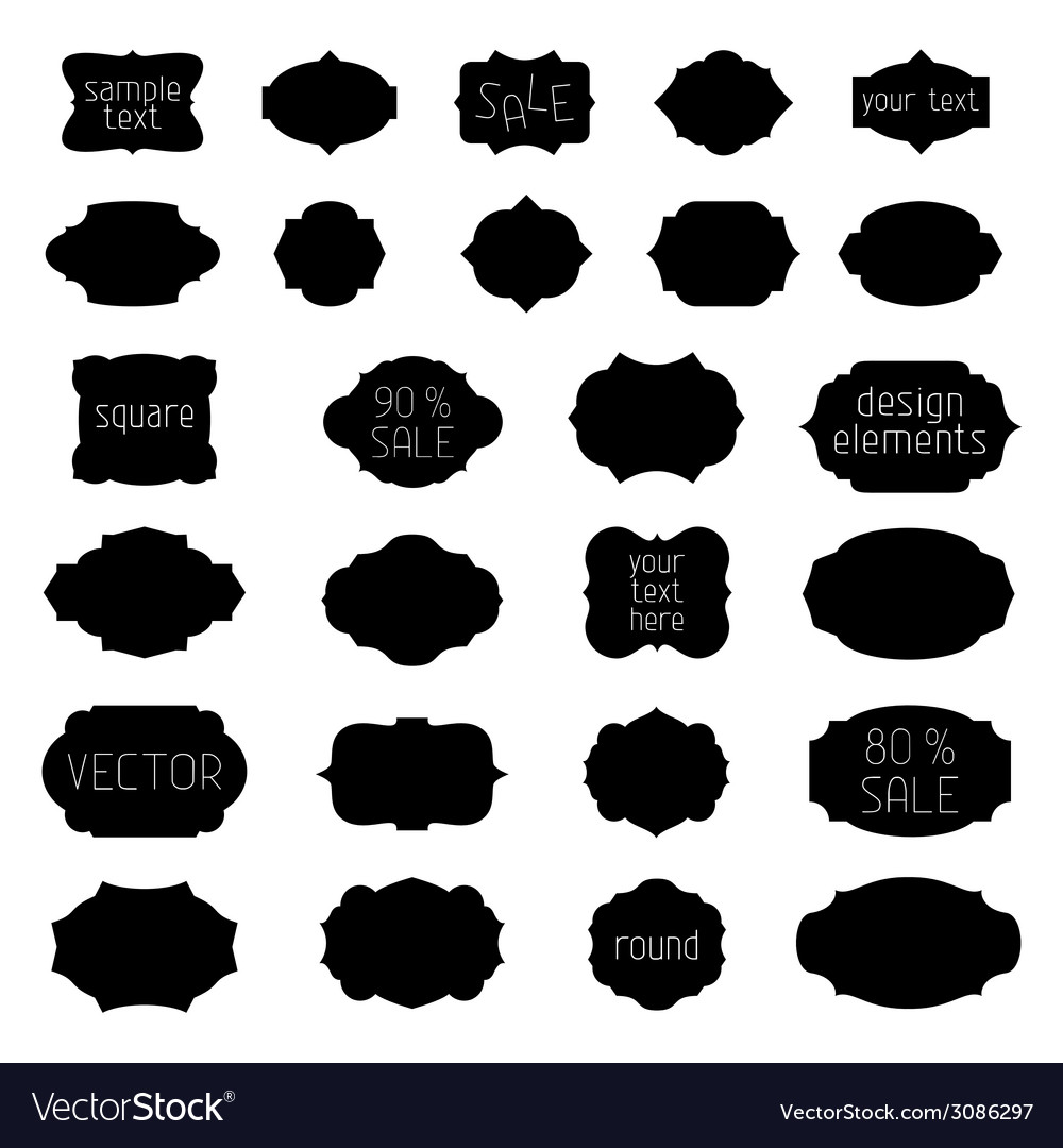 Simple monochrome geometric vintage badges and vector | Price: 1 Credit (USD $1)