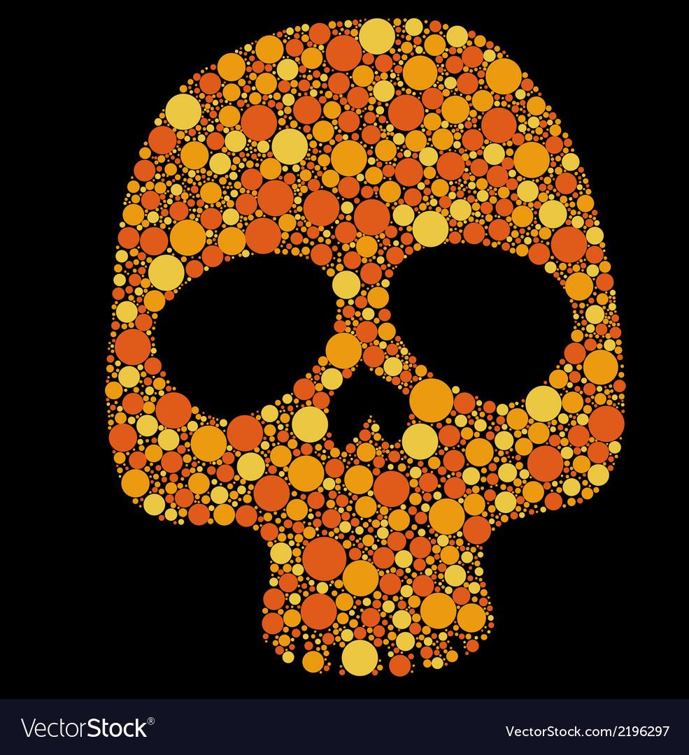 Skull pattern circles vector | Price: 1 Credit (USD $1)