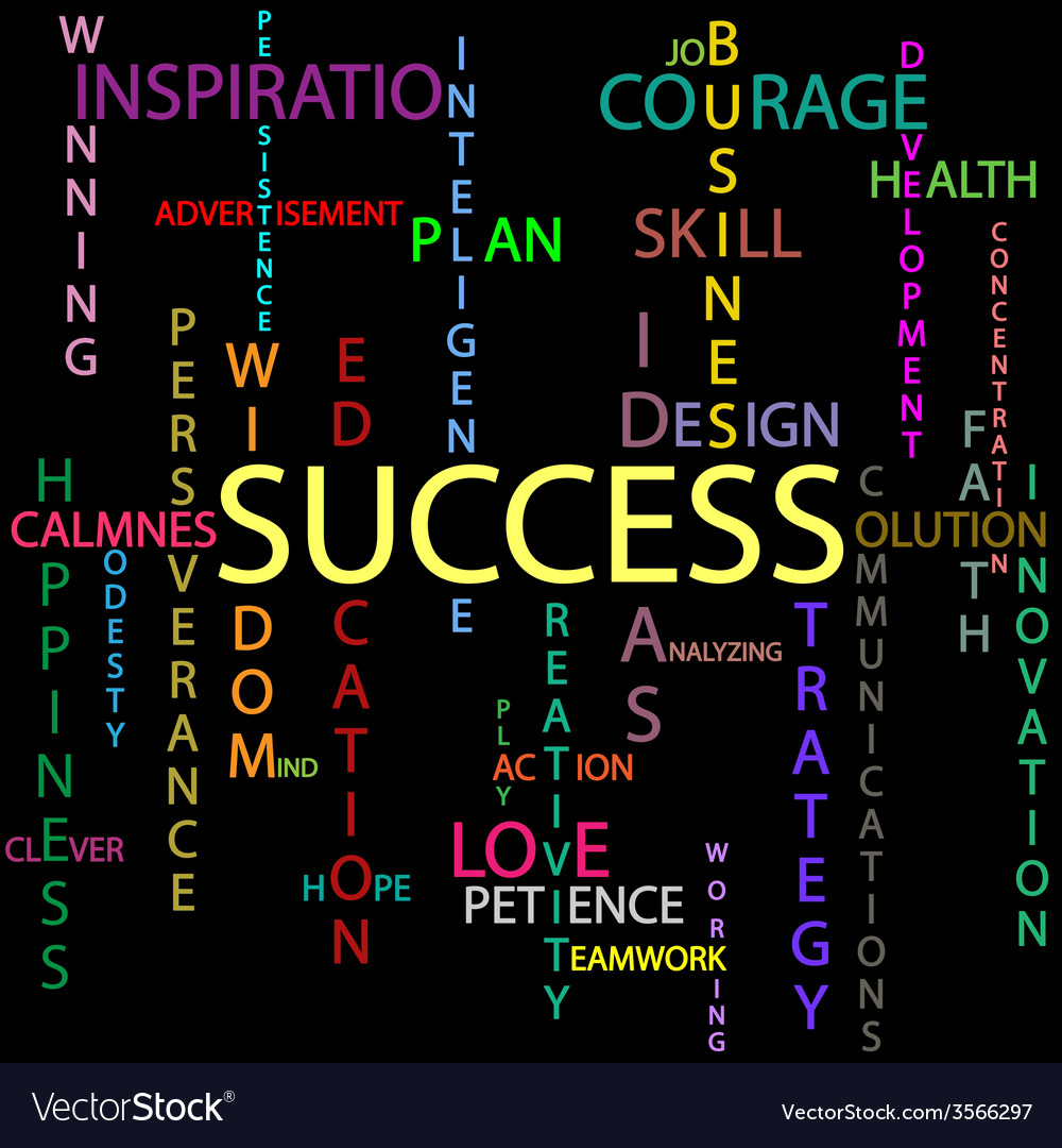 Success background vector | Price: 1 Credit (USD $1)