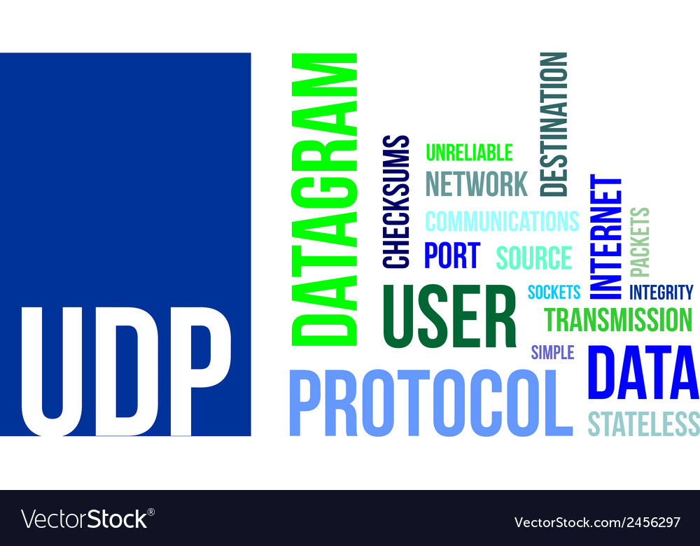 Word cloud udp vector | Price: 1 Credit (USD $1)