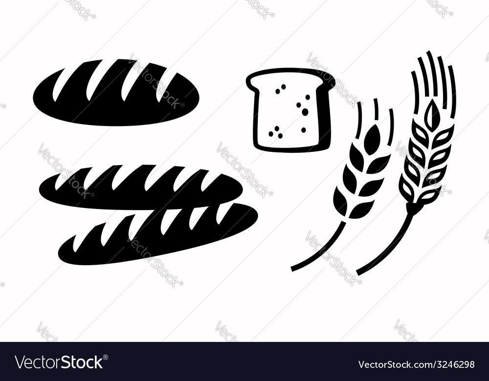 Bread icon vector | Price: 1 Credit (USD $1)