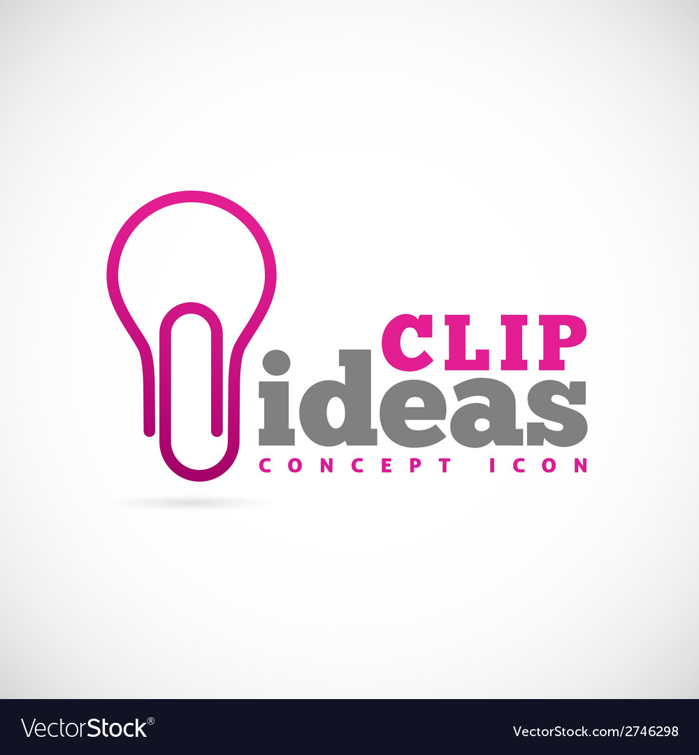 Clip ideas concept symbol icon or logo template vector | Price: 1 Credit (USD $1)