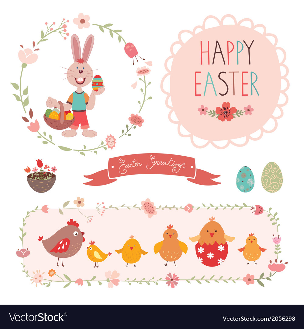 Easter graphic elements vector | Price: 1 Credit (USD $1)
