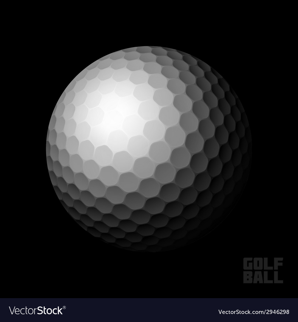 Golf ball on black vector | Price: 1 Credit (USD $1)