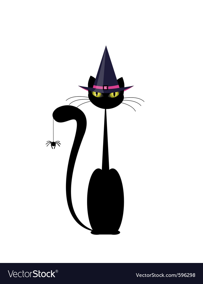 Halloween cat vector | Price: 1 Credit (USD $1)