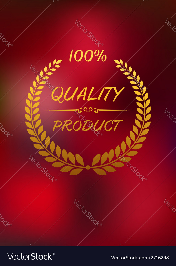 High quality label with golden laurel wreath vector | Price: 1 Credit (USD $1)