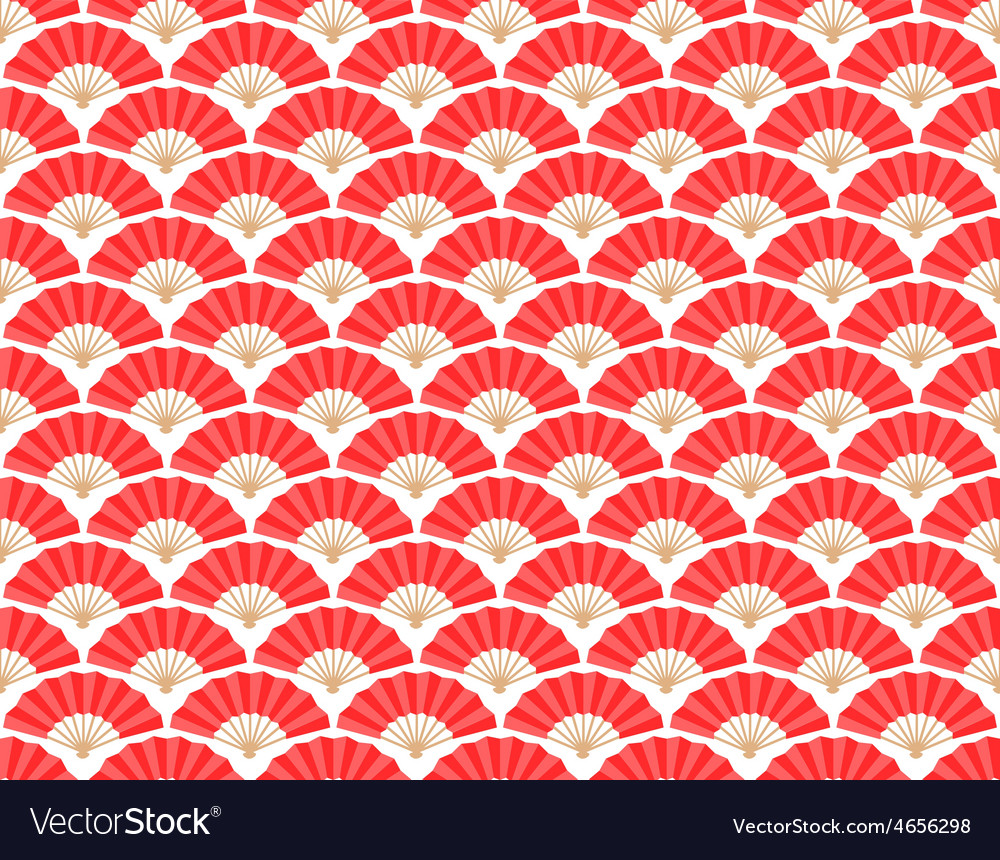 Japanese and chinese fans seamless pattern vector