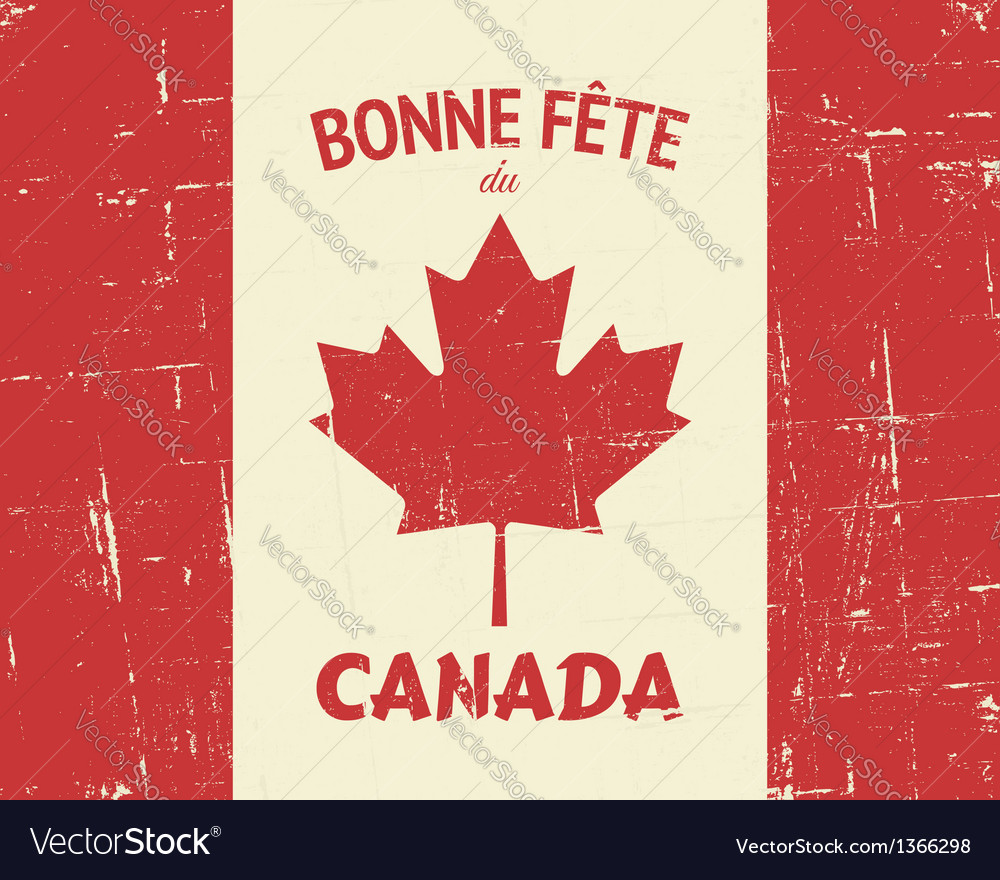 Vintage canada day poster vector | Price: 1 Credit (USD $1)