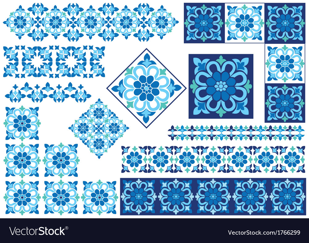 Blue decorative design element vector | Price: 1 Credit (USD $1)