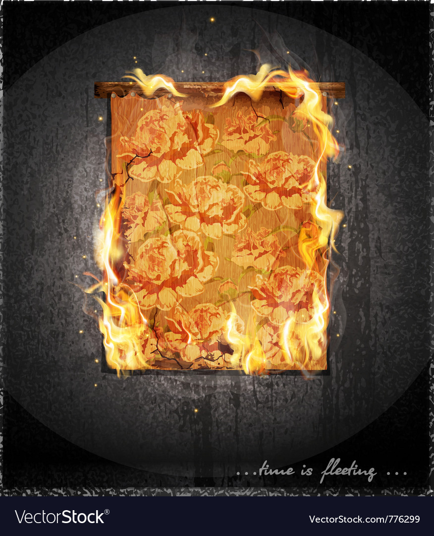 Burning antique tapestry vector | Price: 3 Credit (USD $3)