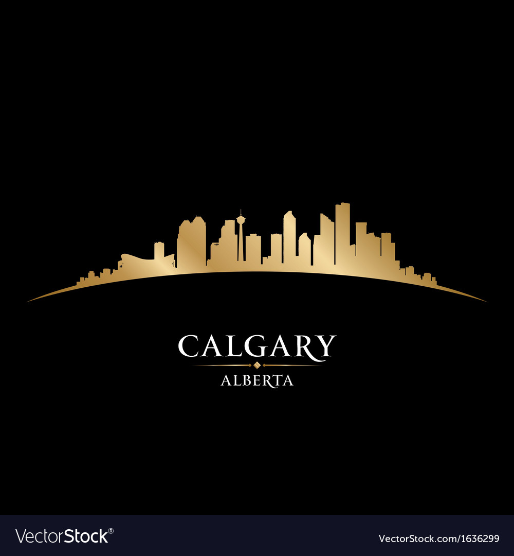 Calgary alberta canada city skyline silhouette vector | Price: 1 Credit (USD $1)