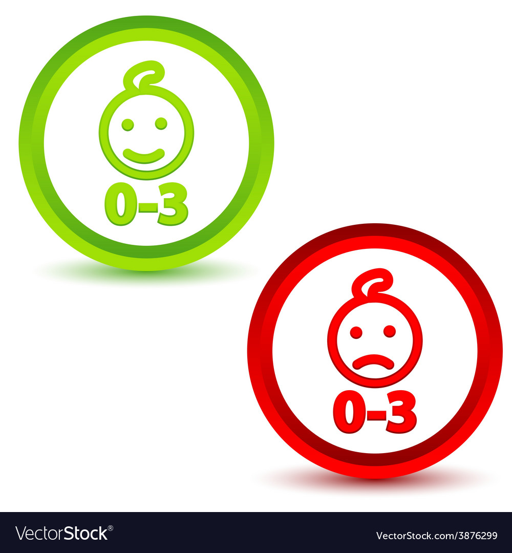 Children under three years icons vector | Price: 1 Credit (USD $1)