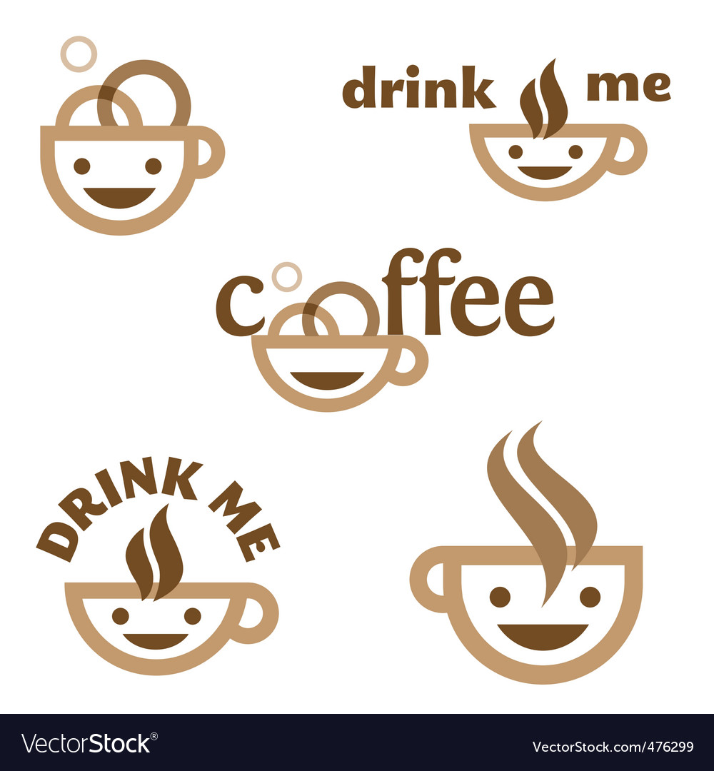 Coffee drink me emblem vector | Price: 1 Credit (USD $1)