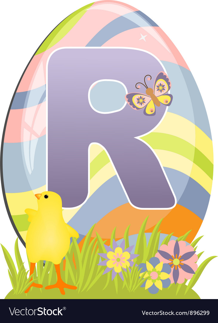 Cute initial letter r vector | Price: 1 Credit (USD $1)