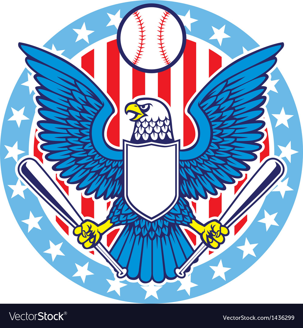 Eagle mascot of baseball vector | Price: 1 Credit (USD $1)