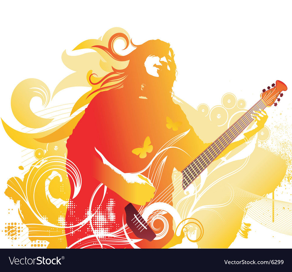 Grunge rocker graphic vector | Price: 3 Credit (USD $3)