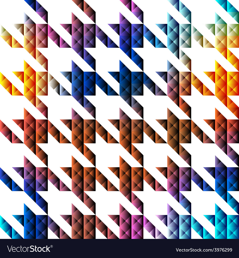 Hounds-tooth geometric pattern of triangles vector | Price: 1 Credit (USD $1)