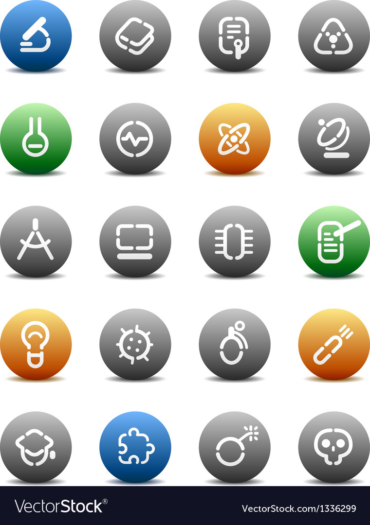 Stencil round buttons for science vector | Price: 1 Credit (USD $1)